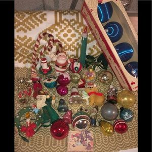 Other - Vintage and some newer Christmas ornaments